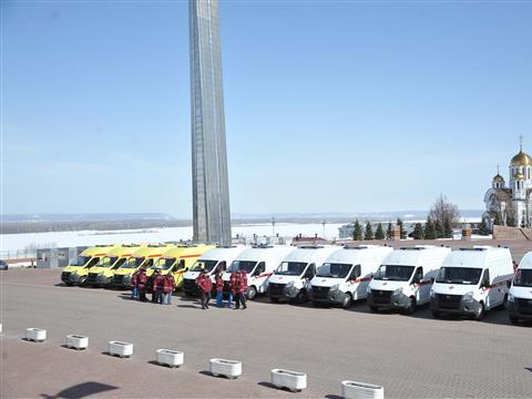 Передача самарским больницам новых карет скорой помощи