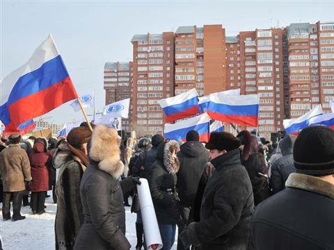 """В Самаре в митинге """"За будущее России!"""" приняли участие более 10 тысяч человек"""