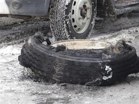 """В Самаре у ТЦ """"Вертикаль"""" горел автобус"""