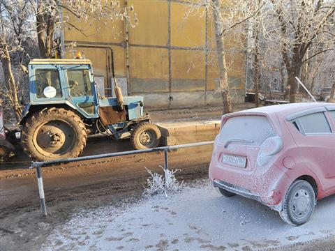 В Самаре на пр. Кирова произошел прорыв тепломагистрали