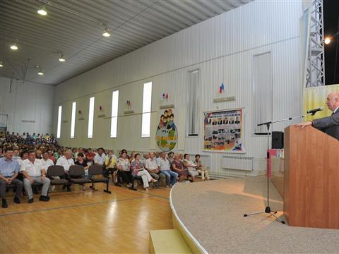 Николай Меркушкин провел встречу с жителями Похвистнево