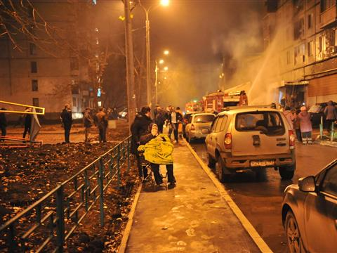 """В Самаре вновь горел дом, в котором находился магазин """"Кооператор"""", эвакуированы 25 человек"""