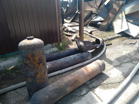Второй очаг пожара на ул. Железноводской появился из-за взрыва газового баллона