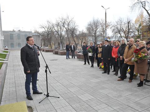 Открытие мемориальной доски в память Дмитрия Когана