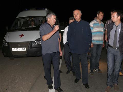 Николай Меркушкин ознакомился с обстановкой на месте ЧС в Чапаевске