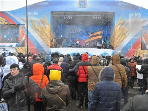 Несмотря на ненастную погоду, праздник в честь Дня народного единства посетили 30 тысяч самарцев