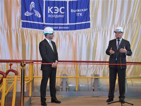 Николай Меркушкин и руководитель КЭС- Холдинга Борис Вайнзихер ввели в эксплуатацию турбоагрегат №6 на Новокуйбышевской ТЭЦ