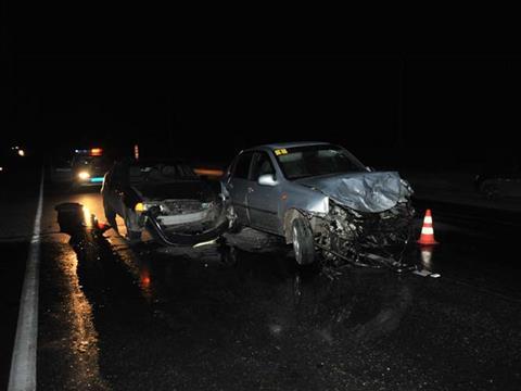 На трассе Самара – Тольятти столкнулись три автомобиля