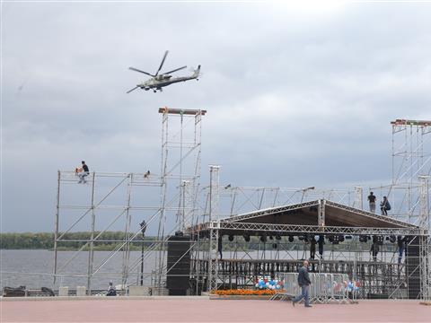 Над самарской набережной прошла репетиция авиашоу
