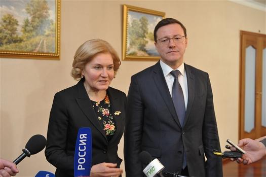 Ольга Голодец и Дмитрий Азаров посетили социальные объекты региона