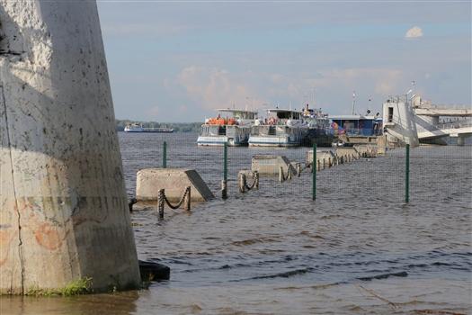 У Самары зафиксировали максимальный за всю историю наблюдений уровень воды в Волге