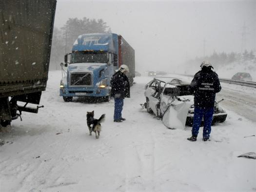 Водитель легковушки, выезжая со второстепенной трассы, не уступил дорогу грузовику и допустил столкновение