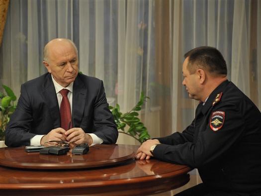 Николай Меркушкин провел рабочую встречу с начальником Росгвардии по Самарской области Василием Глотовым