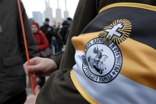 Маршировали преимущественно  молодые люди в возрасте от 15 до 20 лет