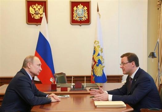 Строительство Дворца спорта в Самаре началось после встречи Путина и Азарова
