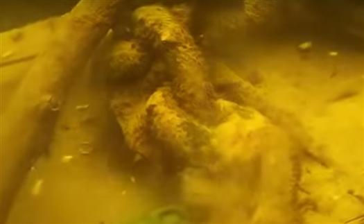 Вопросы у специалистов вызывает массивная металлическая якорная цепь - 600 лет назад использовали канаты