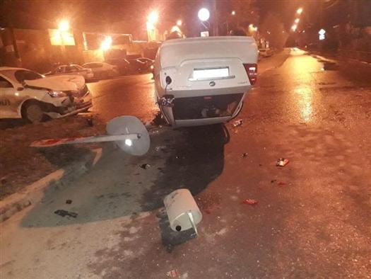 В Тольятти девушка-водитель перевернулась на иномарке