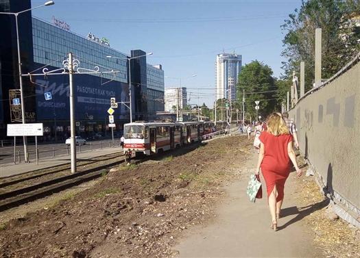 На ул. Ново-Садовой в Самаре из-за ДТП встали трамваи