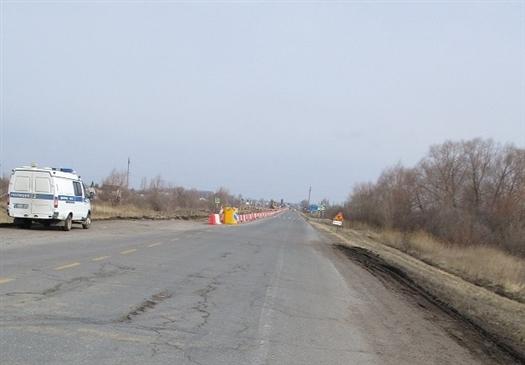 В Самарской области украли мобильный светофор для дорожных работ