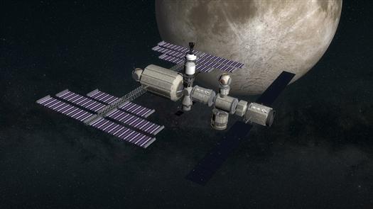 Лунная орбитальная станция (предполагаемый вид)