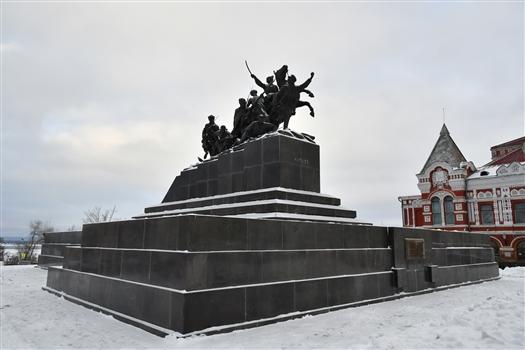 Памятник Чапаеву в Самаре отреставрировали с использованием 3D-технологий