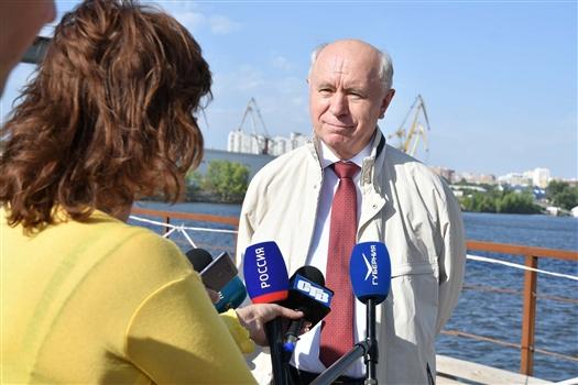 """Николай Меркушкин: """"Высокие темпы строительства Фрунзенского моста будут сохранены"""""""