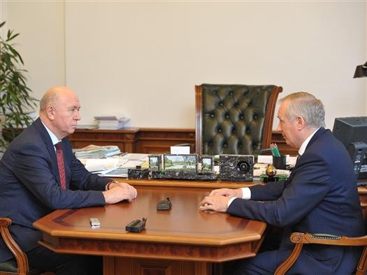 Николай Меркушкин провел рабочую встречу с Евгением Шахматовым