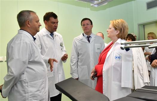 """Вероника Скворцова: """"У региона есть все для того, чтобы медицина была мирового уровня"""""""