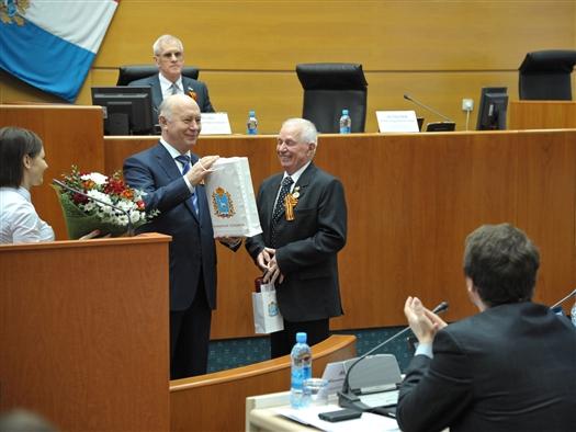 Губернатор поздравил Леона Ковальского с 75-летним юбилеем