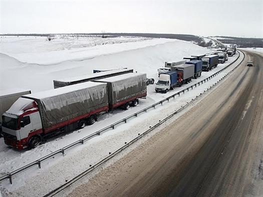 Пробка на М5 выросла до 70 км