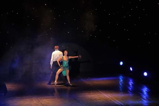 На сцене ОДО известная балерина оказалась не одна