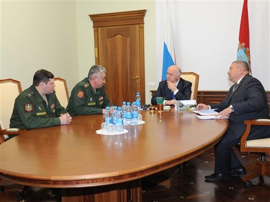 Николай Меркушкин встретился с командующим войсками ЦВО