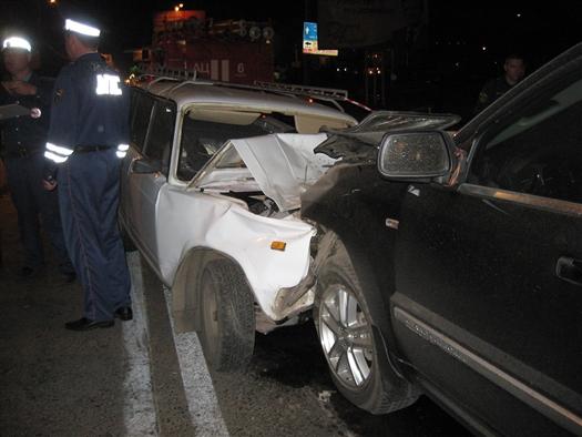 Из-за пьяного водителя иномарки в воскресенье в Самаре столкнулись пять машин