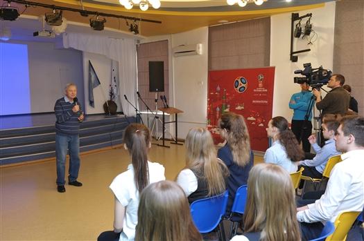 В Самаре прошел футбольный урок для будущих волонтеров и комментаторов