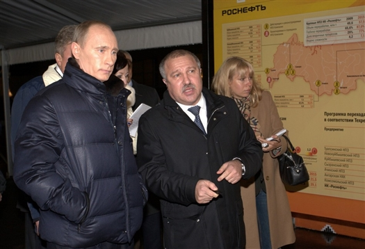 Владимир Путин посетил один из цехов Новокуйбышевского НПЗ
