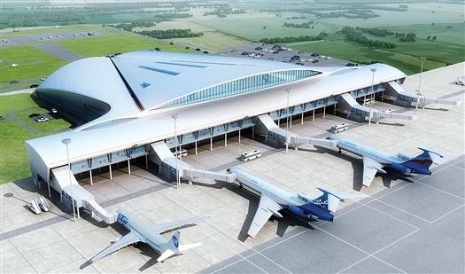 Первая очередь нового пассажирского терминала площадью 35 тысяч квадратных метров будет сдана в 2014 году