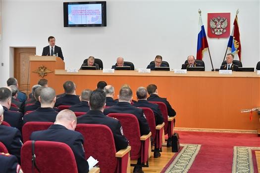 Дмитрий Азаров принял участие в заседании коллегии областного управления МВД