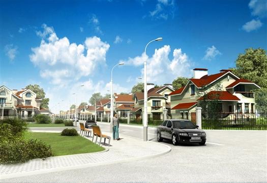 Помимо многоэтажного жилья эконом-класса, на площадке планируется возвести поселок с таунхаусами и коттеджный поселок