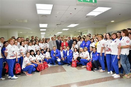 Вероника Скворцова и Дмитрий Азаров поблагодарили за работу медицинскую команду ЧМ-2018