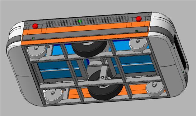 3D-модель мобильного транспортного робота